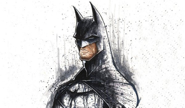 Обои на рабочий стол: art, artwork, batman, DC Comics, minimalistic, superheroes, white background