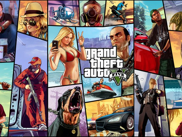 Chop, Franklin, Grand Theft Auto V, GTA 5, Jimmy, Lamar, Lester, michael, Ron, Tracey, Trevor, Vasquez