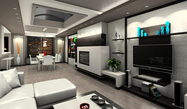 Обои на рабочий стол: apartment, design, home, interior, luxury, modern