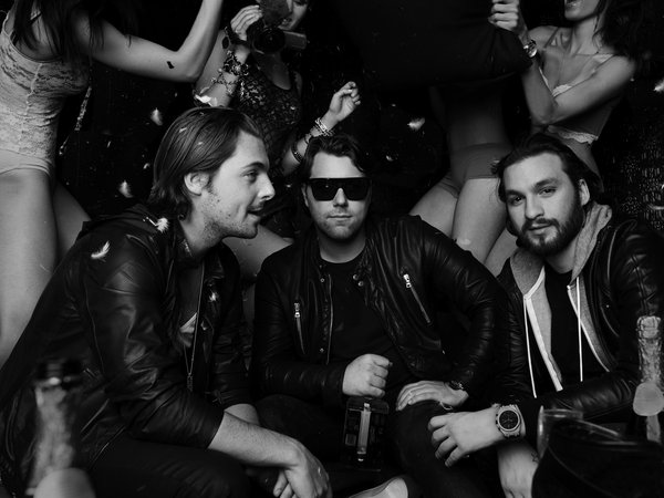 Axwell, dj, Sebastian Ingrosso, Steve Angello, swedish house mafia, девушки, чёрно-белое