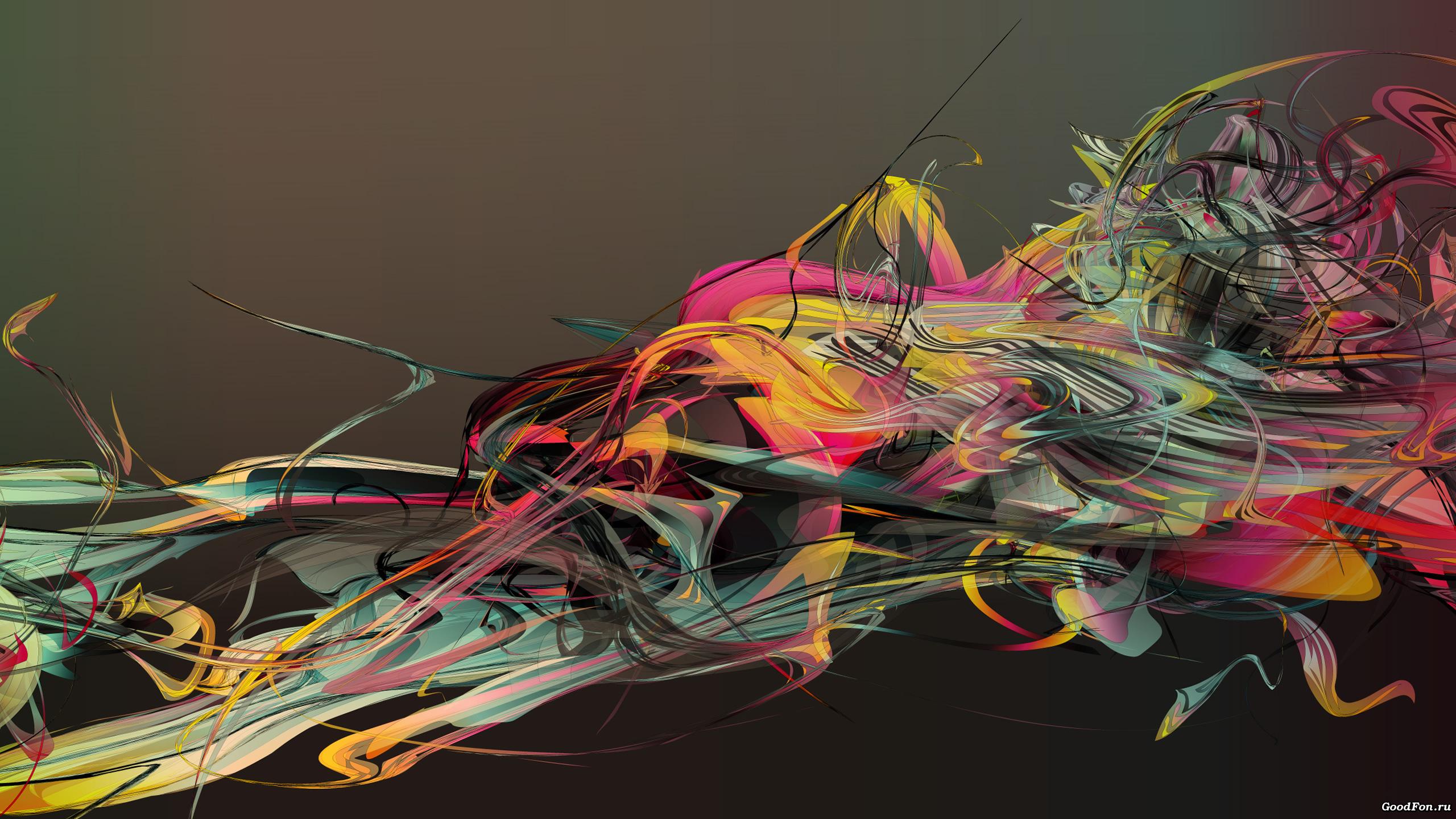 графика абстракция линии 3D  № 3666882  скачать