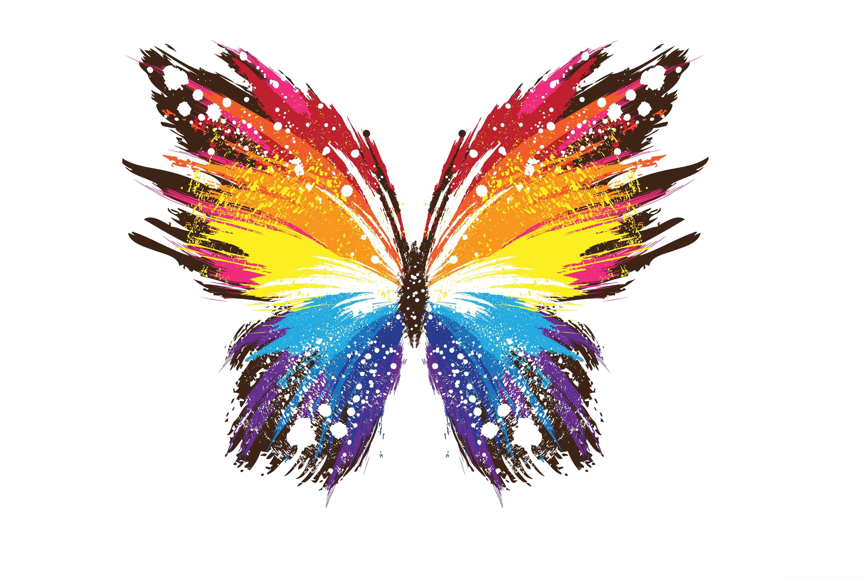 Бабочка мазками скачать