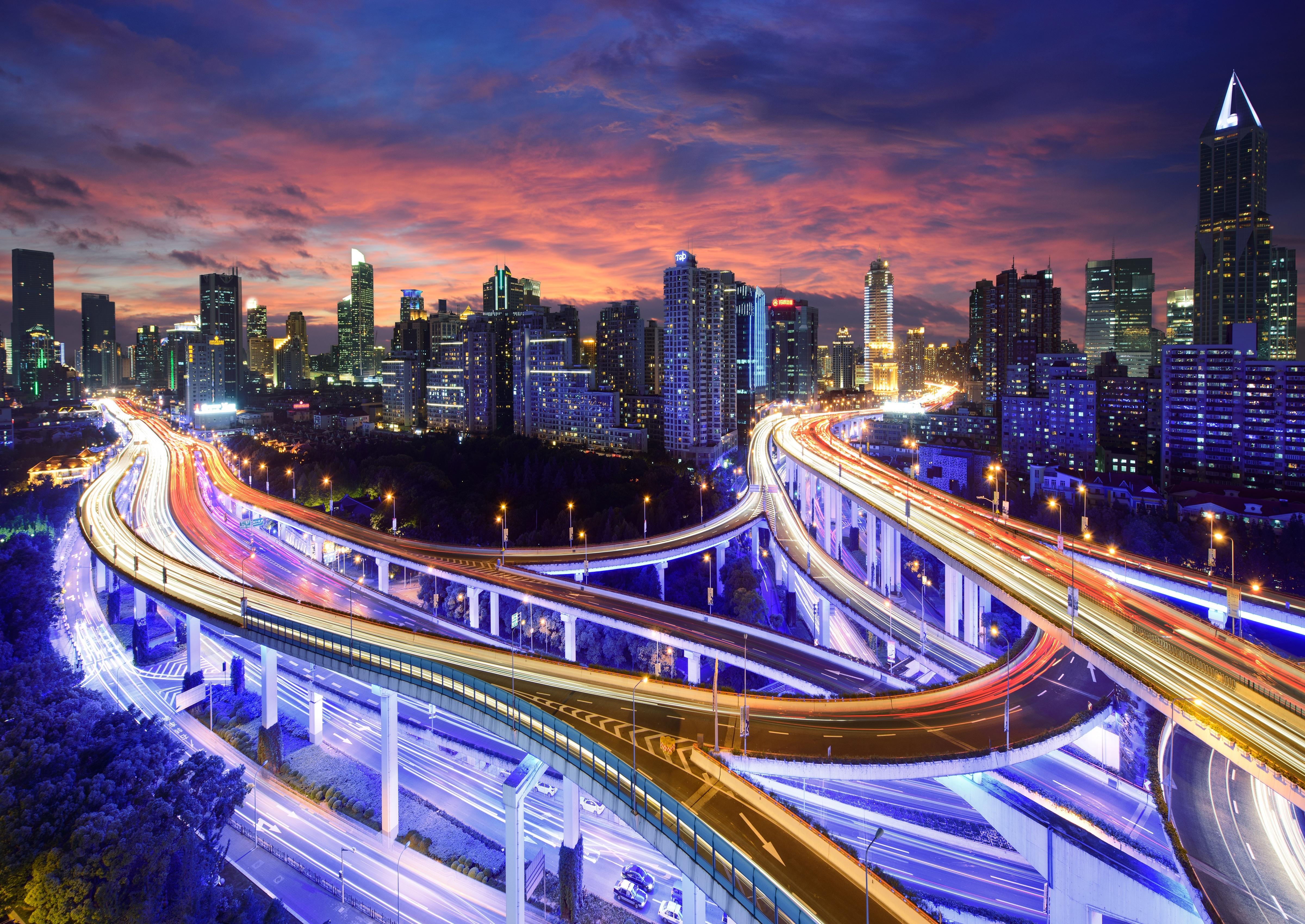 Гонконг архитектура ночь город страны  № 2229823 без смс