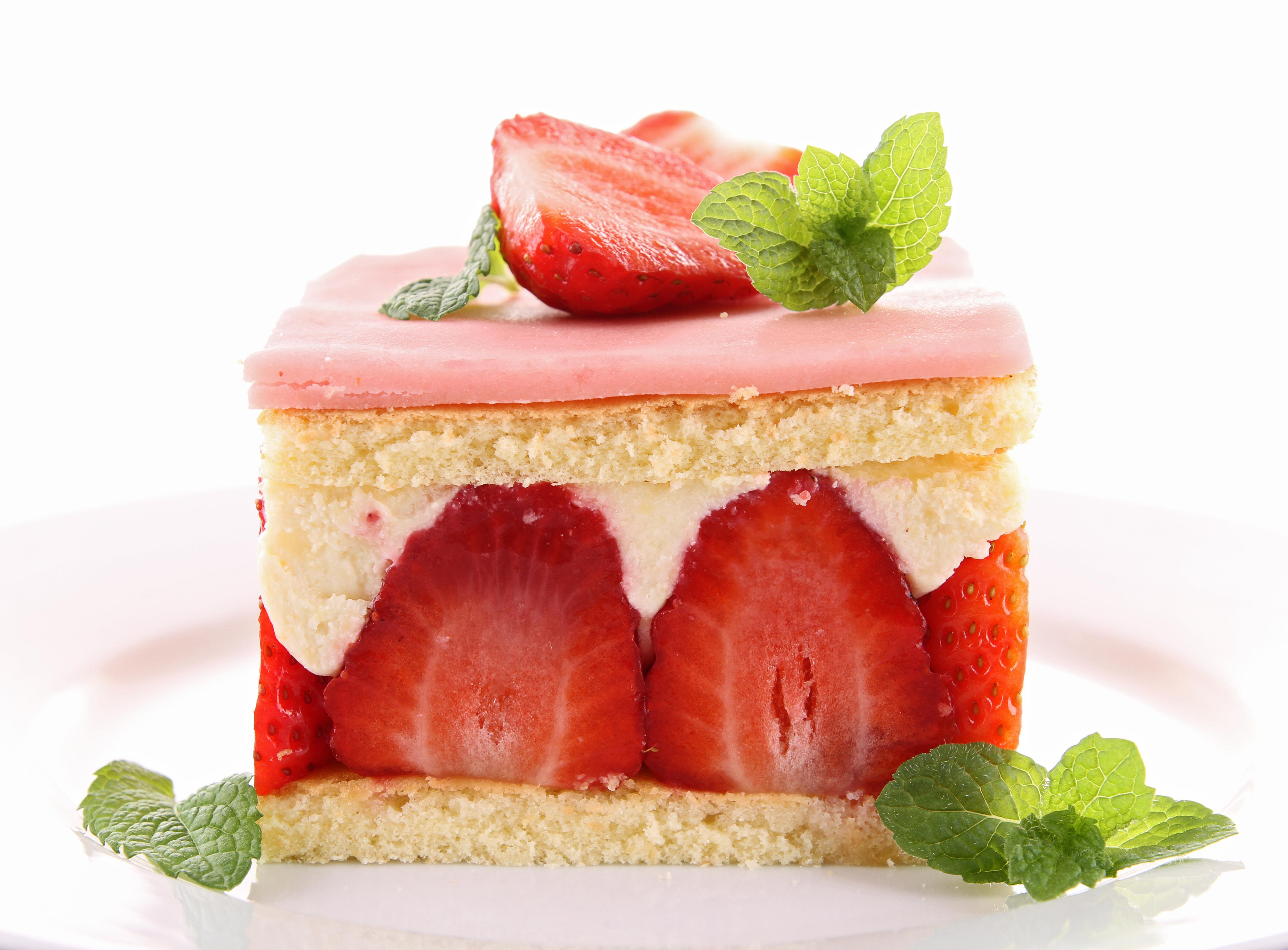 Обои Strawberry, cake, food. Еда foto 8