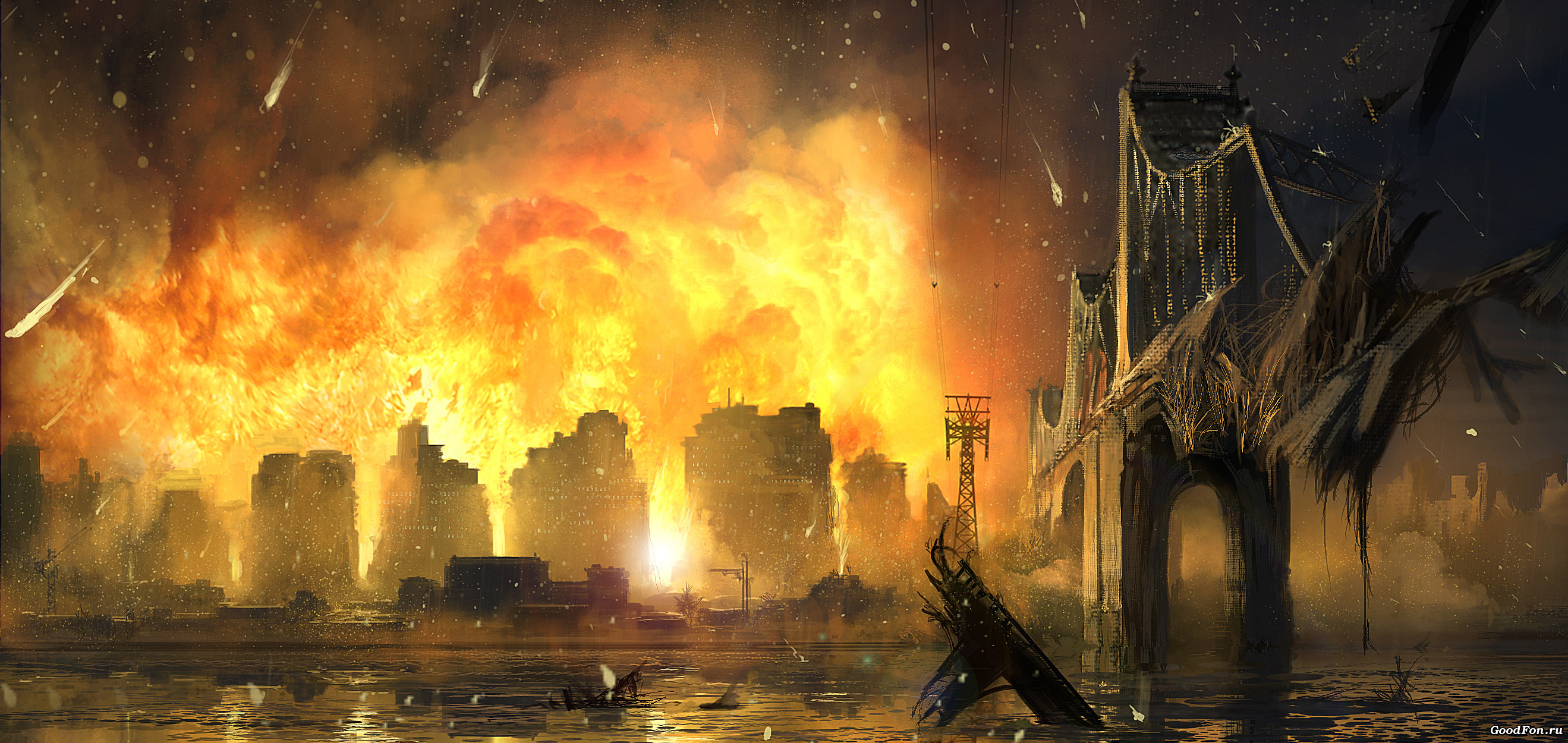 горящий мегаполис без смс