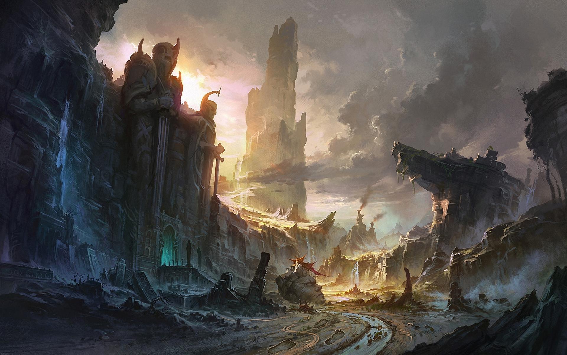 Фантастический город на скалах без смс
