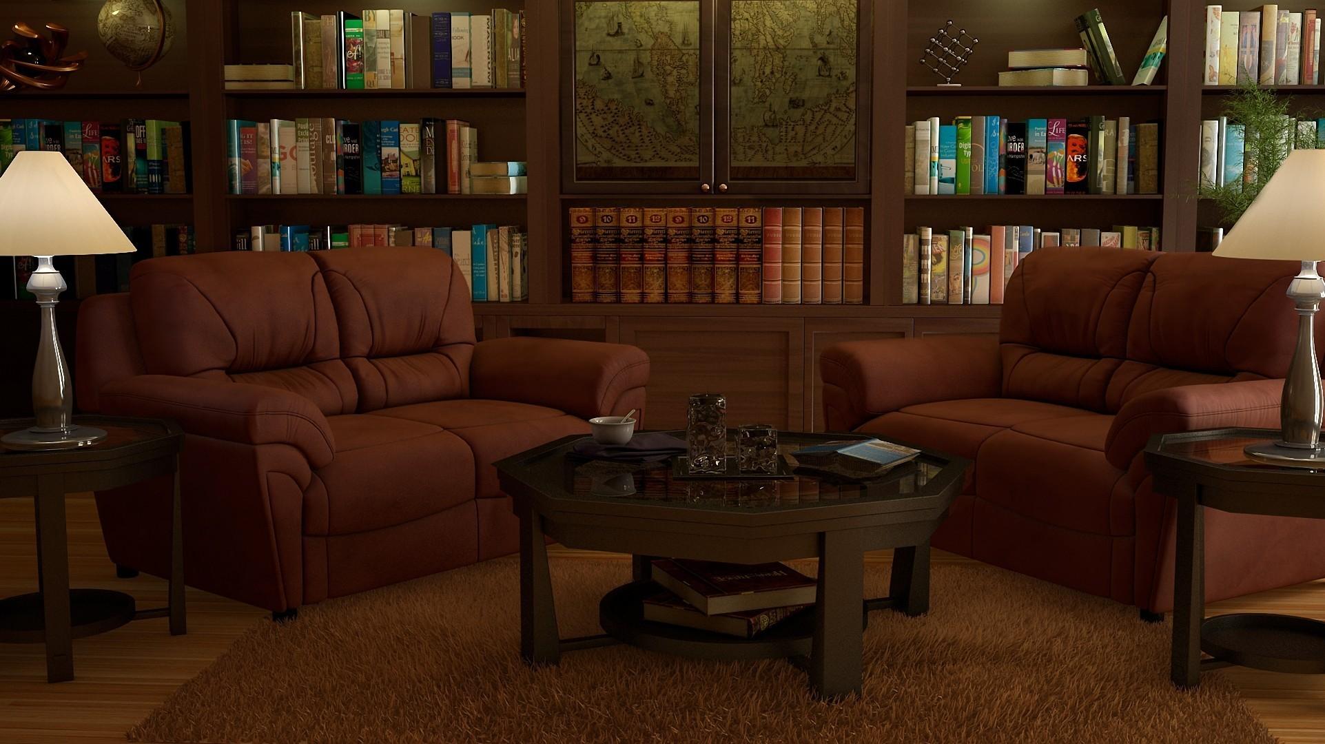 комната-библиотека без смс