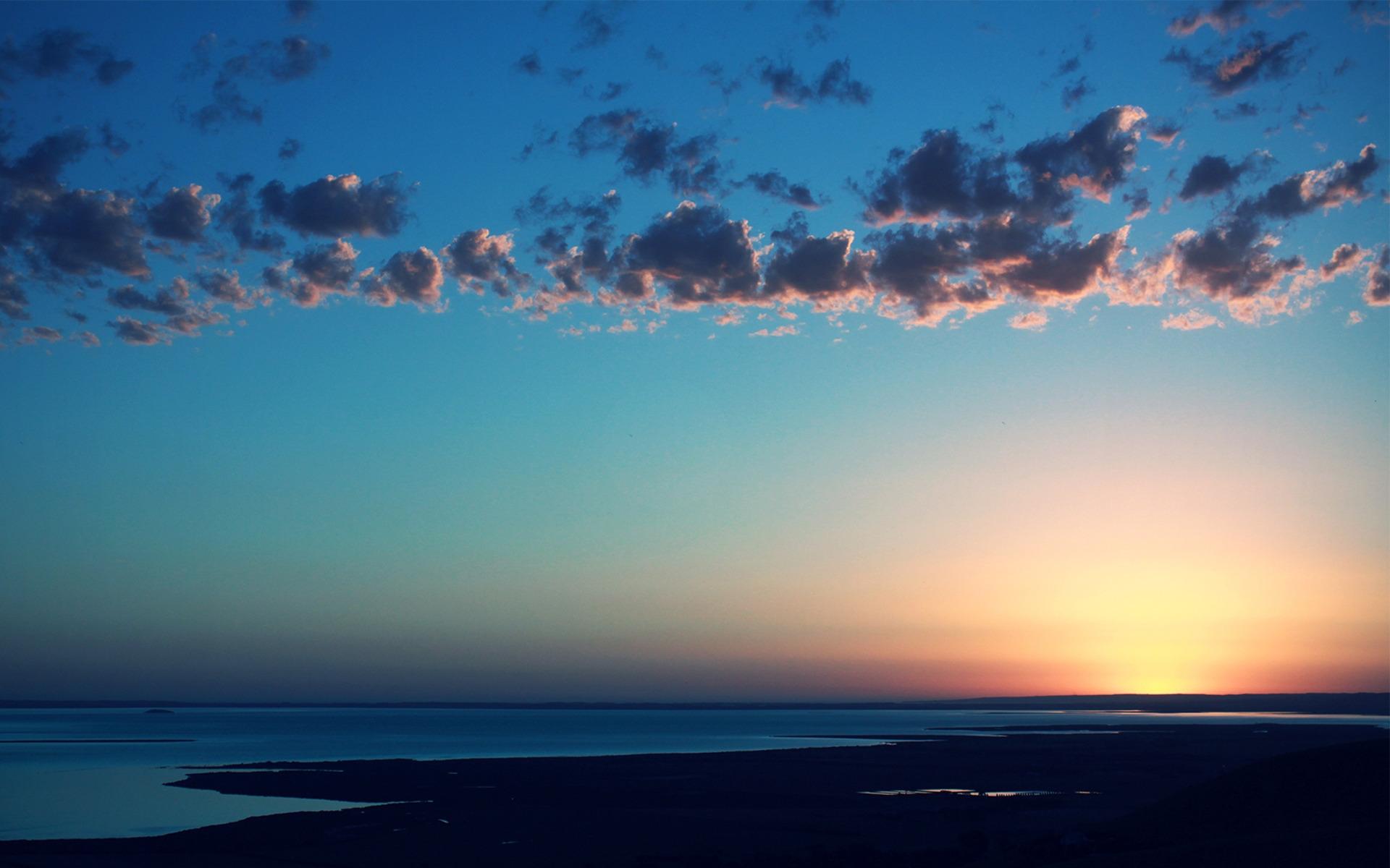 природа горизонт облака небо море nature horizon clouds the sky sea  № 2761337 без смс