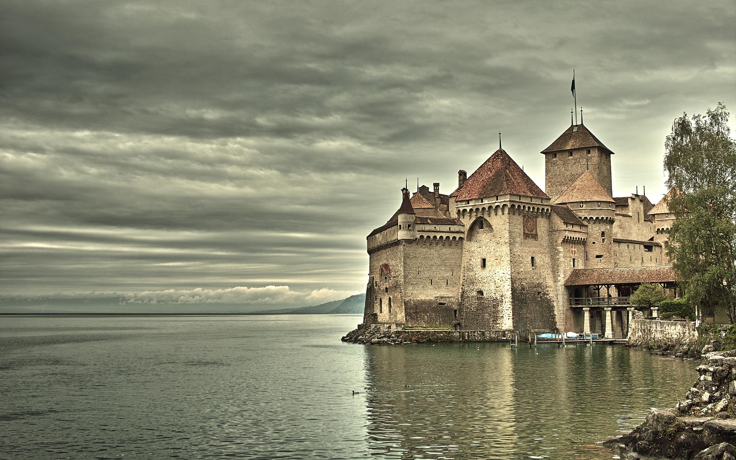 Замок швейцария вечер  № 2569430  скачать