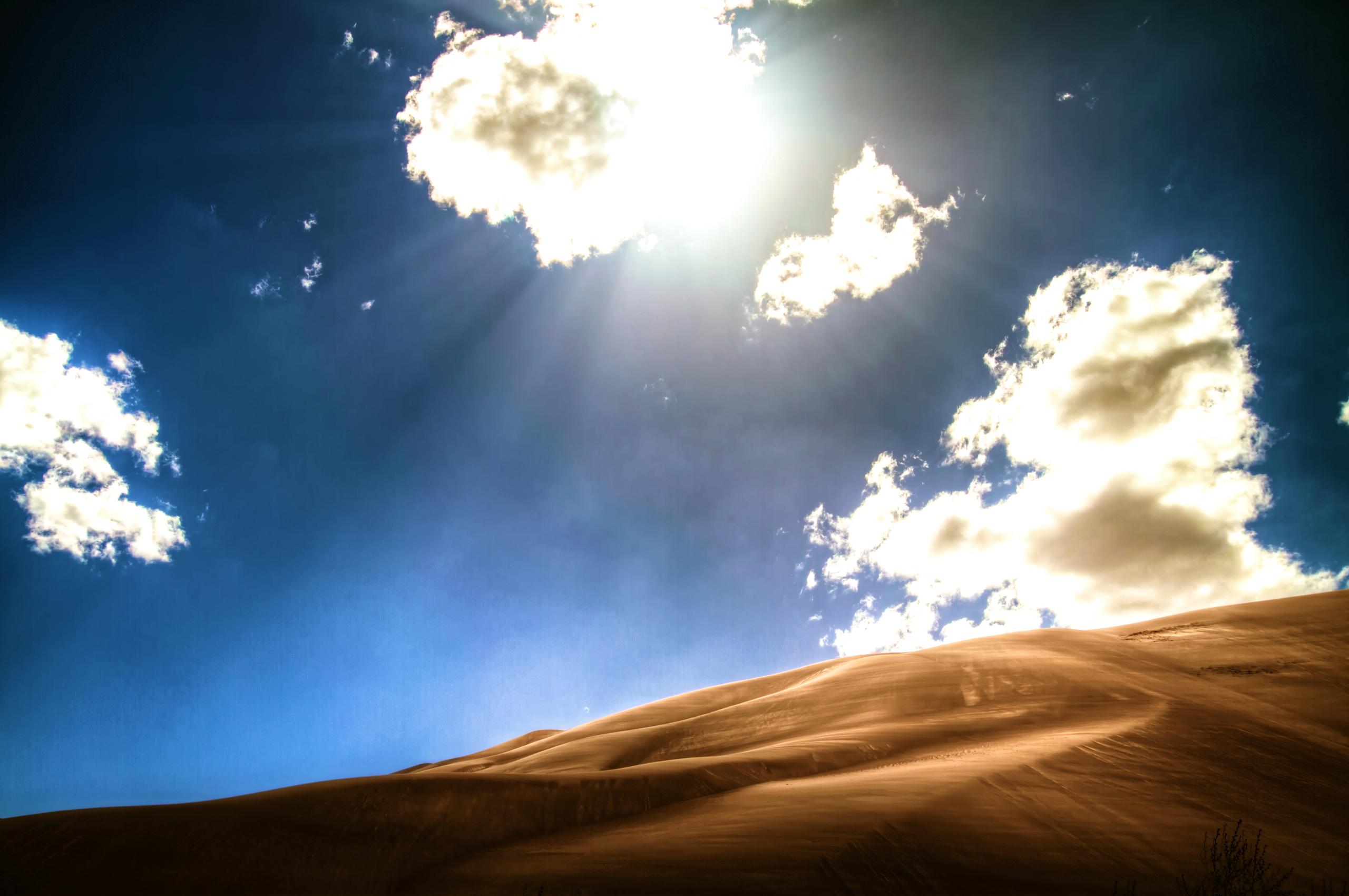 небо песок месяц  № 3914356  скачать