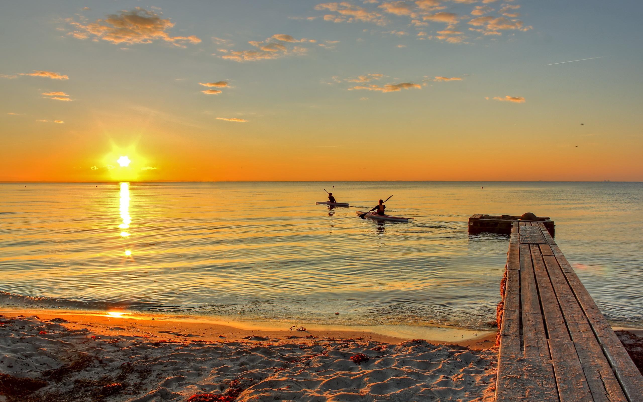 море солнце закат яхта загрузить