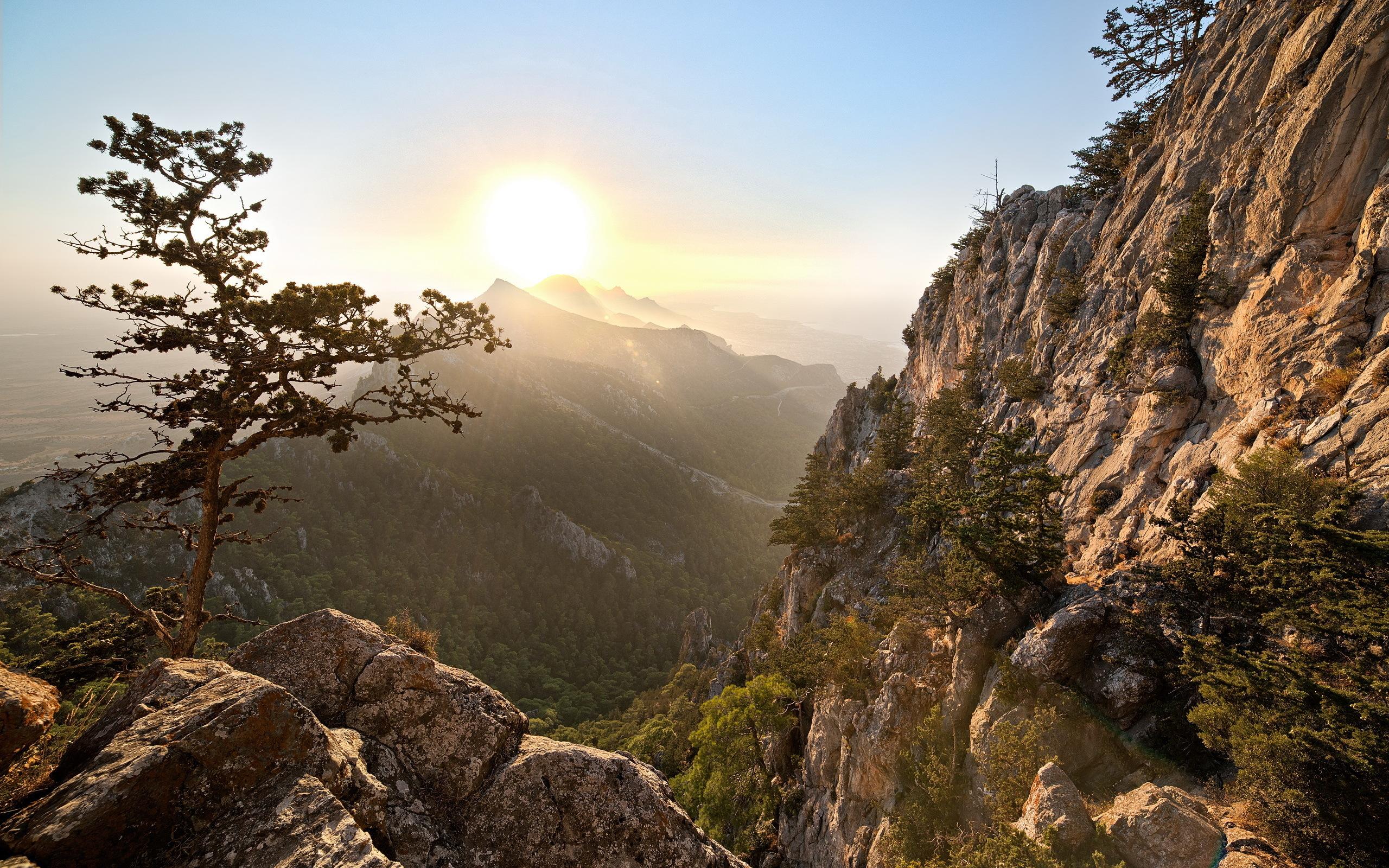 природа горы деревья скалы небо nature mountains trees rock the sky  № 379293  скачать