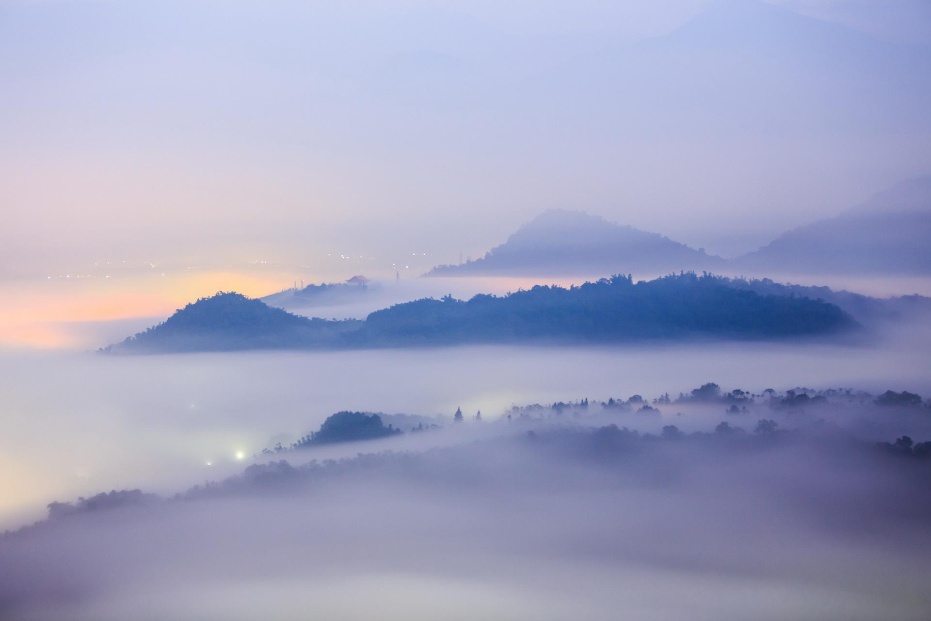 вулкан горы облака туман  № 755063 без смс