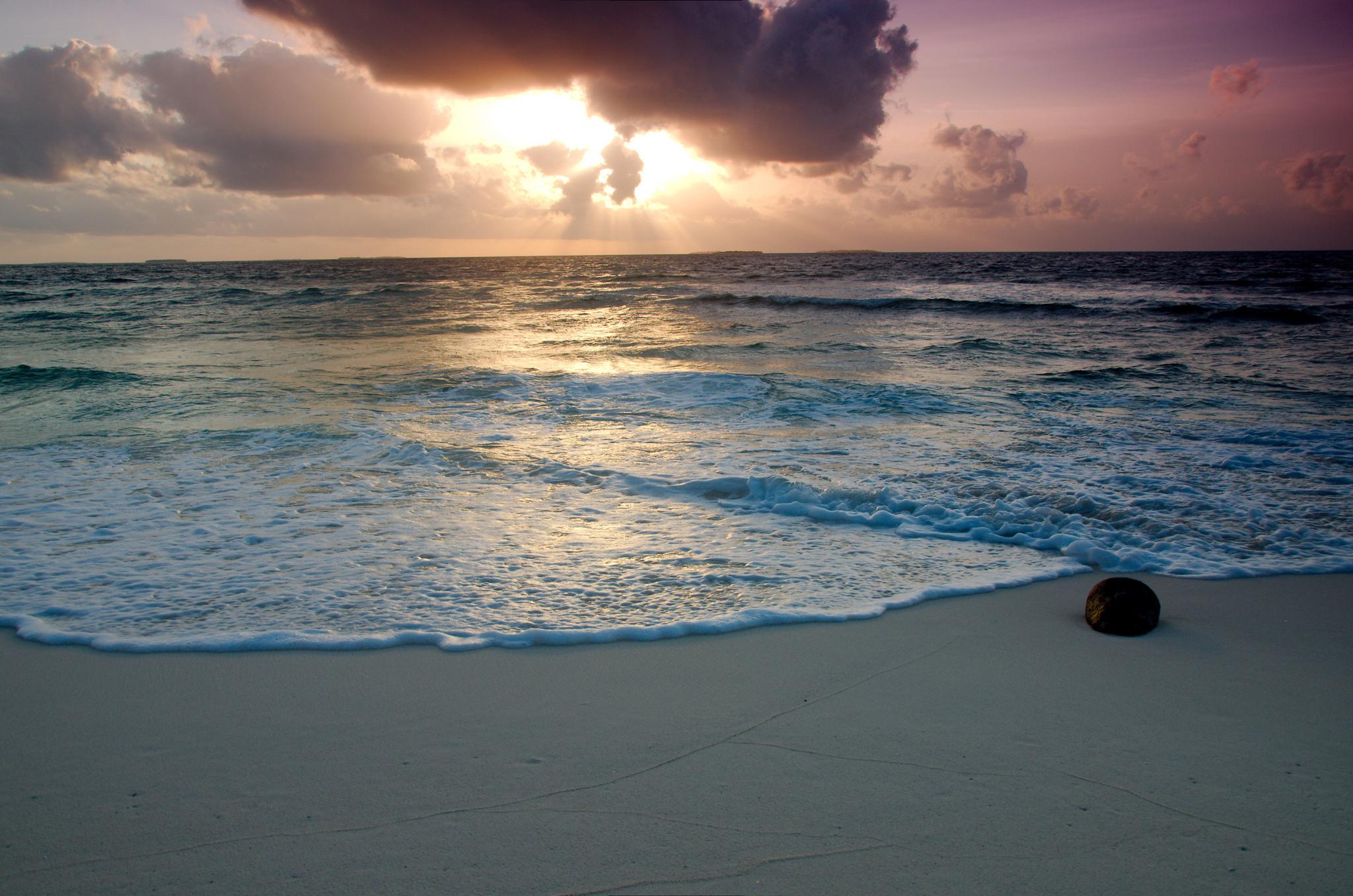 Солнце облака природа море без смс