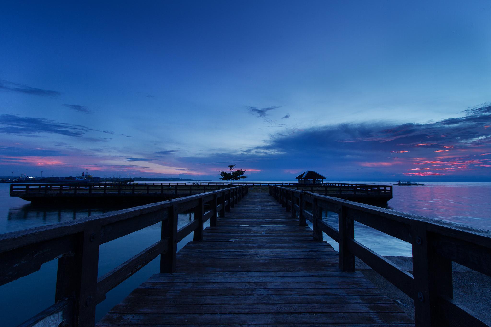 мост фонари море небо  № 3388161 без смс