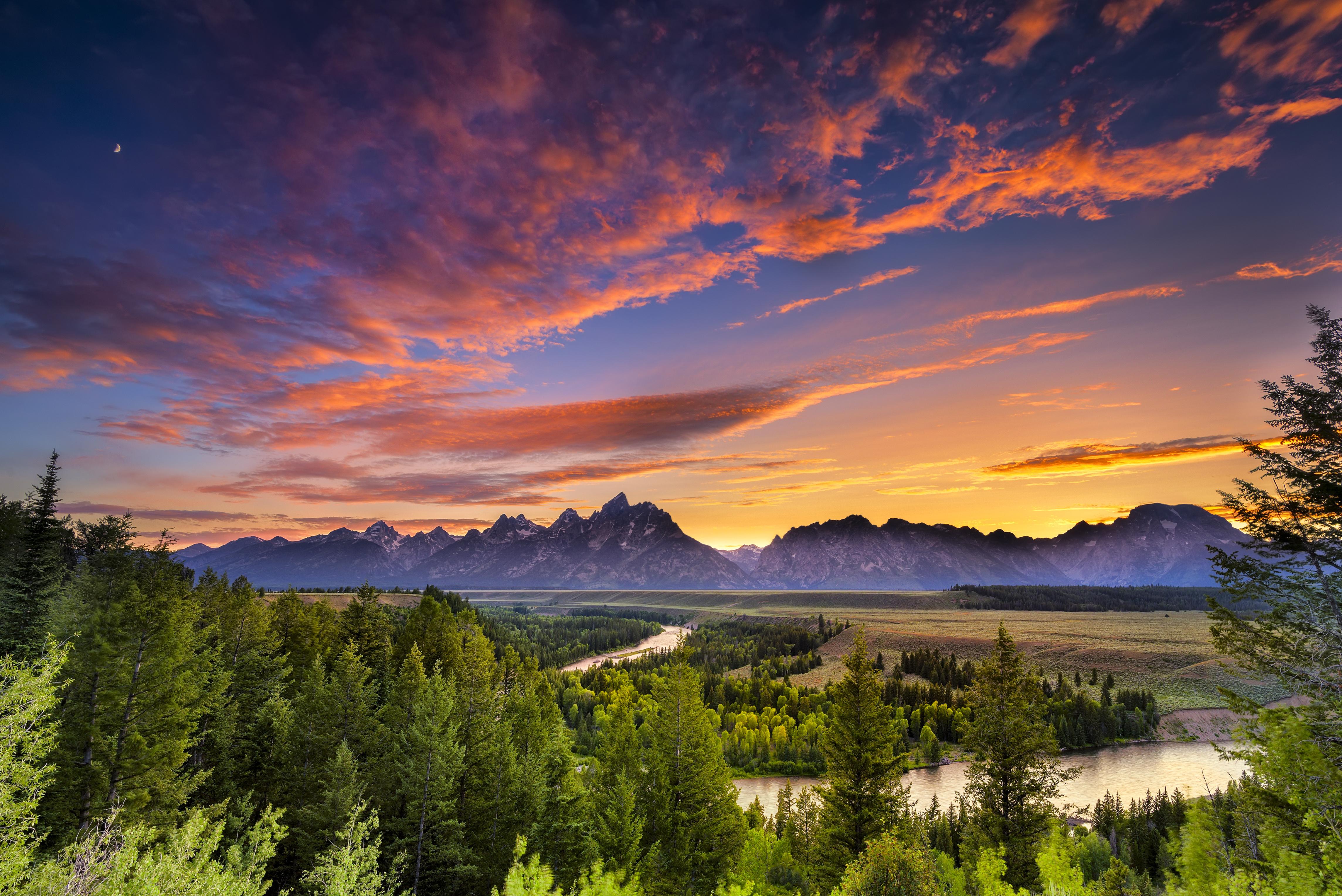 природа река деревья облака горы без смс