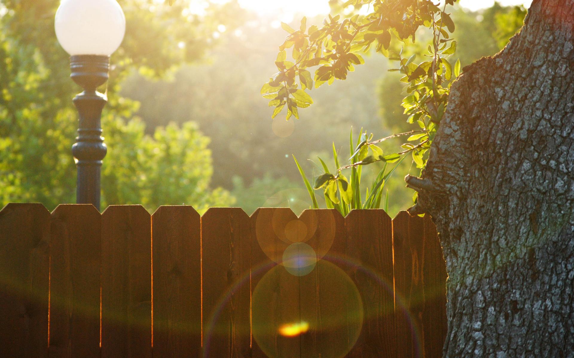 вечер забор фонари загрузить
