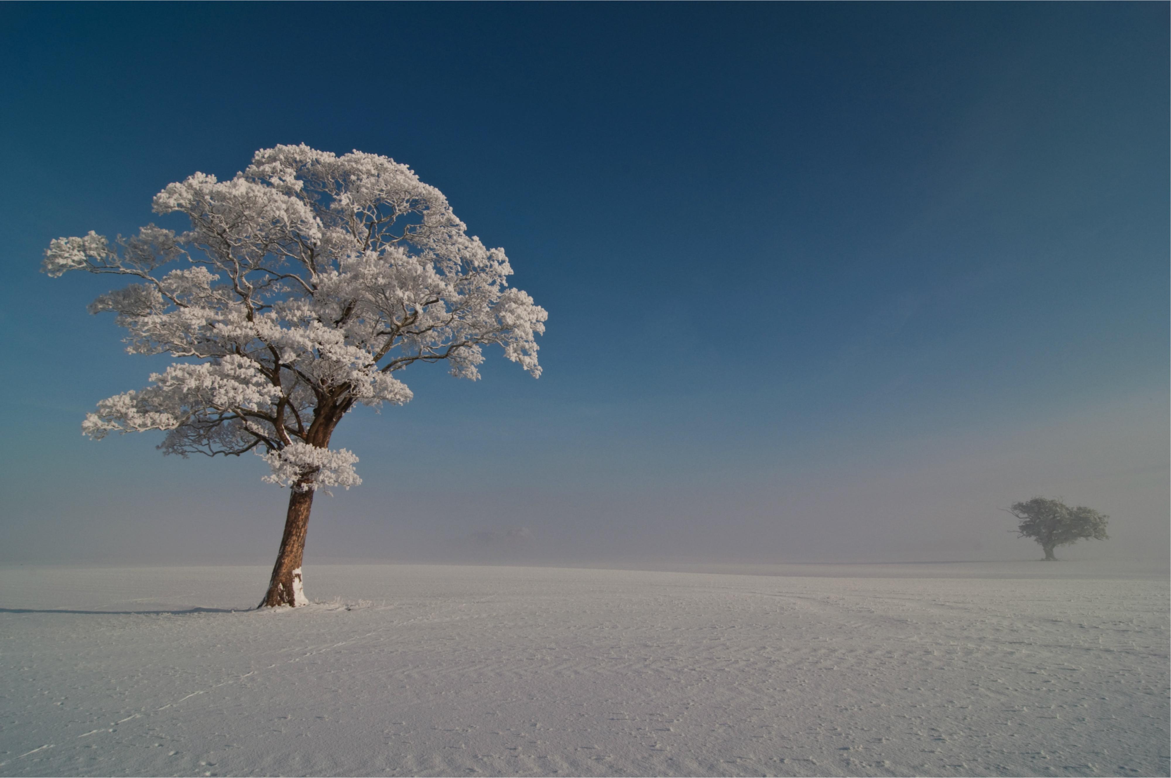 природа водопад снег небо облака зима скачать