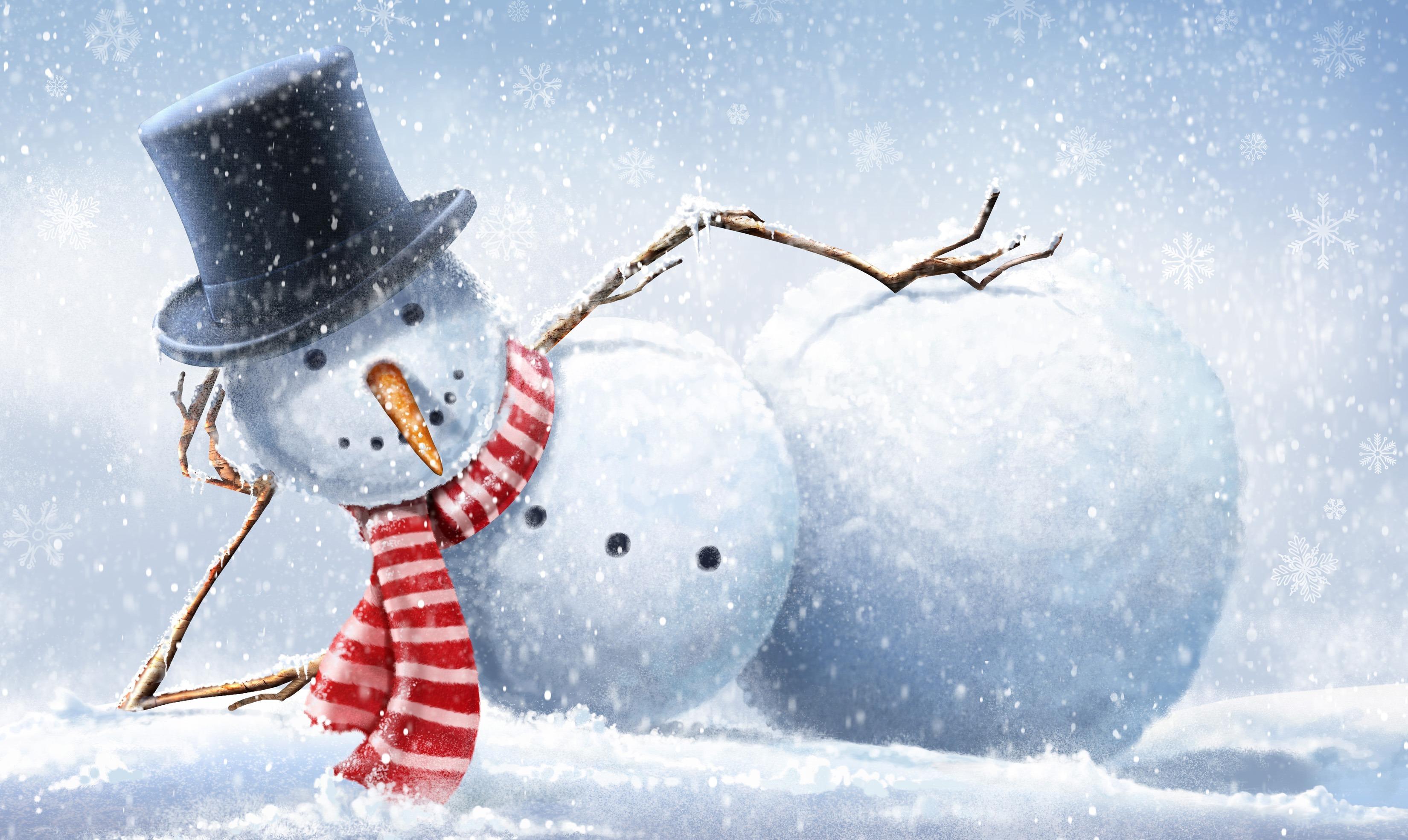 снеговик рождество улыбка снег загрузить