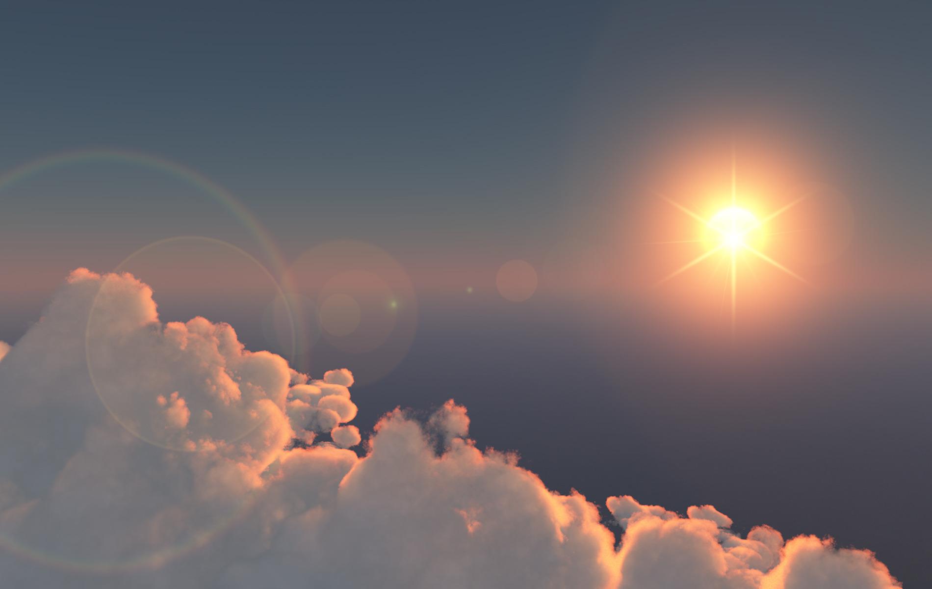 Небо горы блики  № 3013085 бесплатно