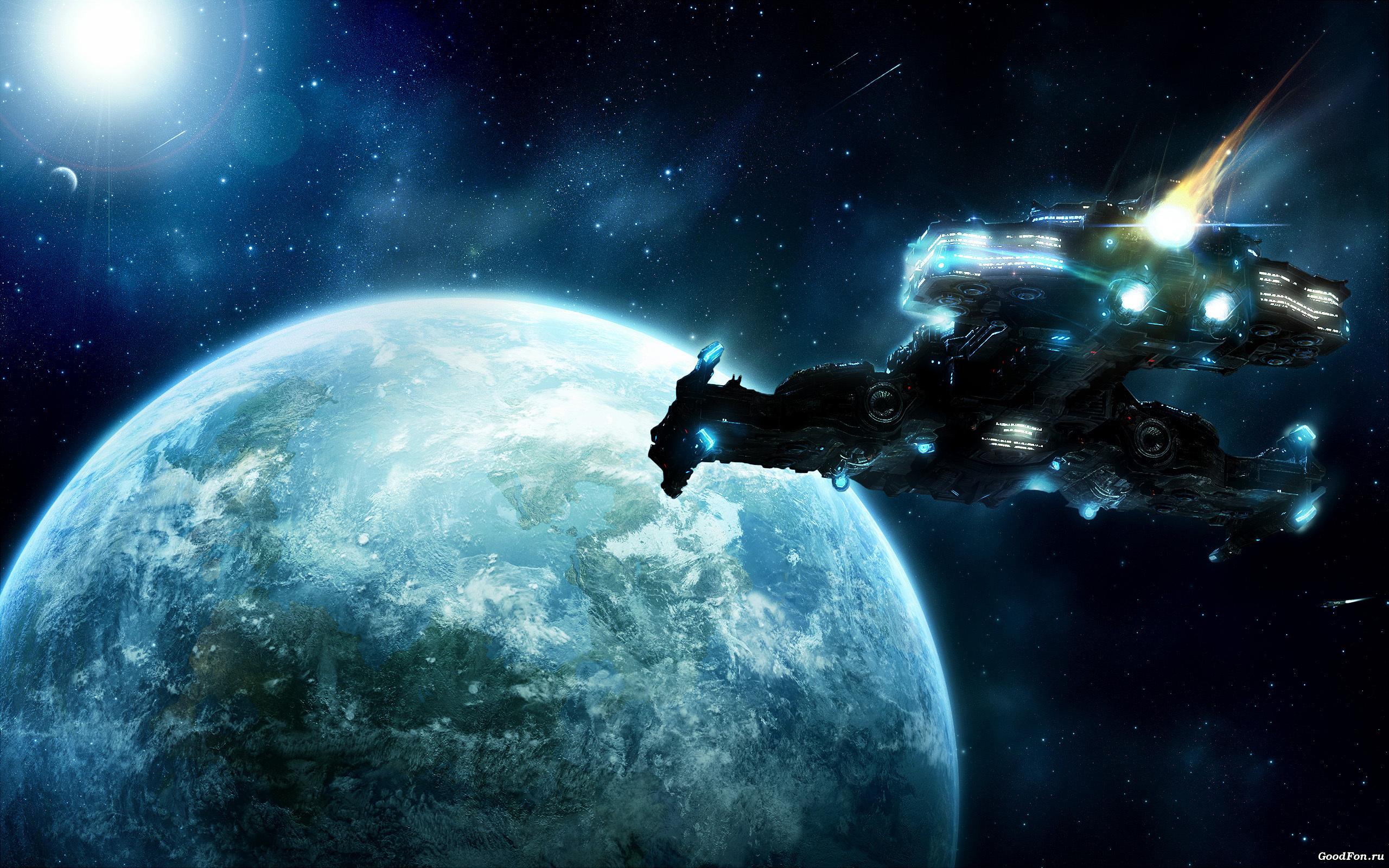 Обои космос планета корабль картинки на рабочий стол на тему Космос - скачать  № 3125420  скачать