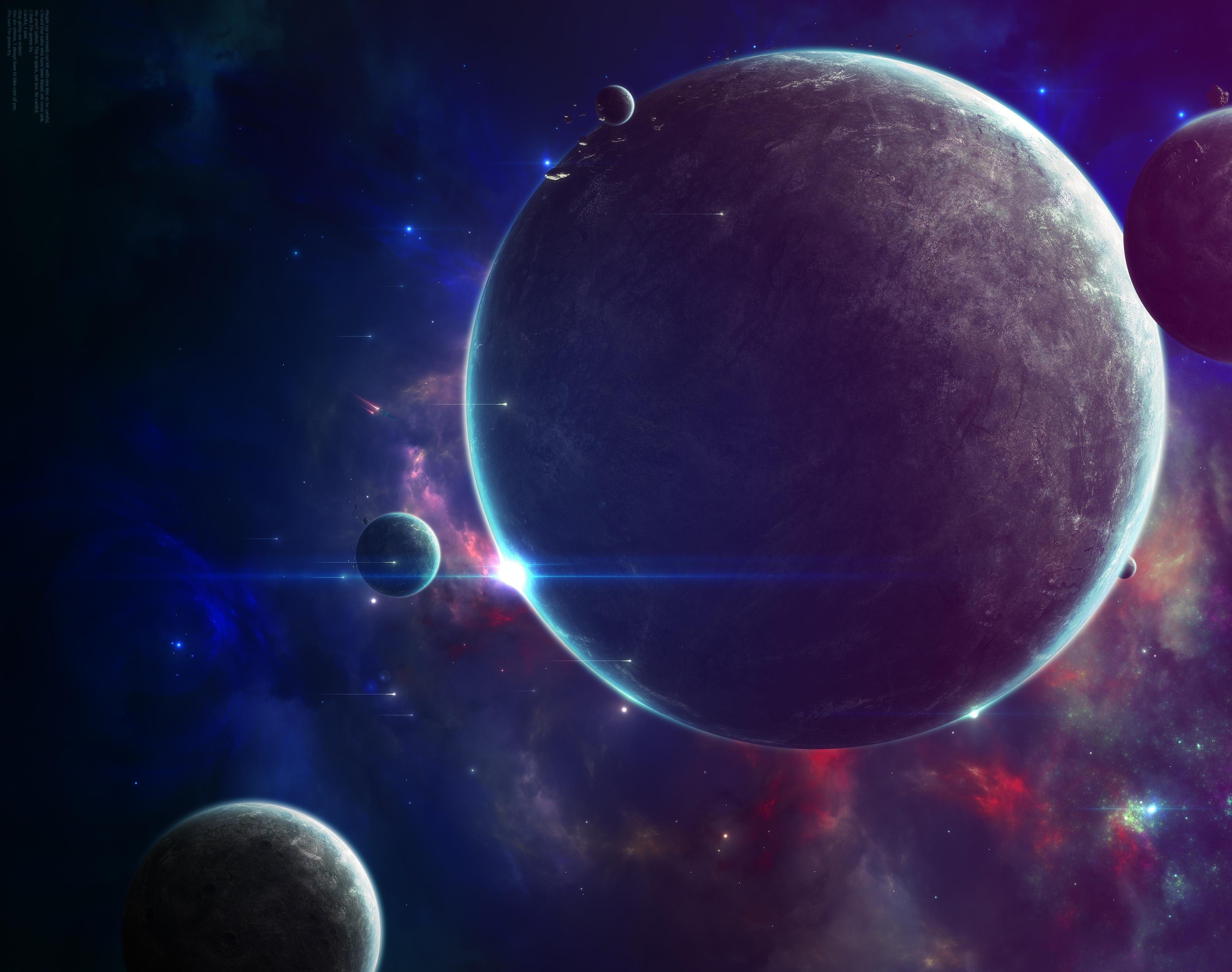 Обои Планета и спутник картинки на рабочий стол на тему Космос - скачать  № 42971 загрузить