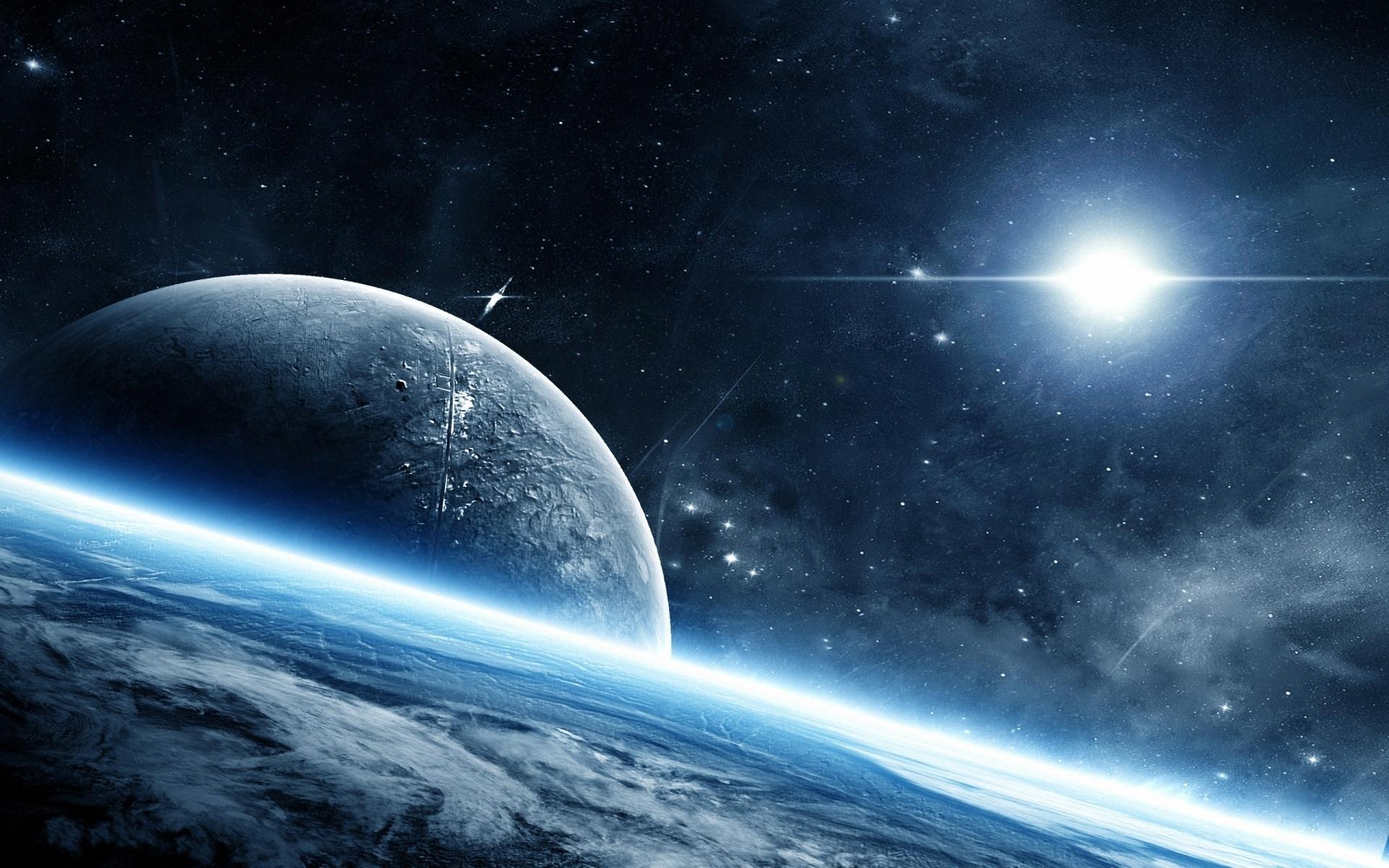 Обои Свечение за планетами картинки на рабочий стол на тему Космос - скачать  № 1772709 бесплатно