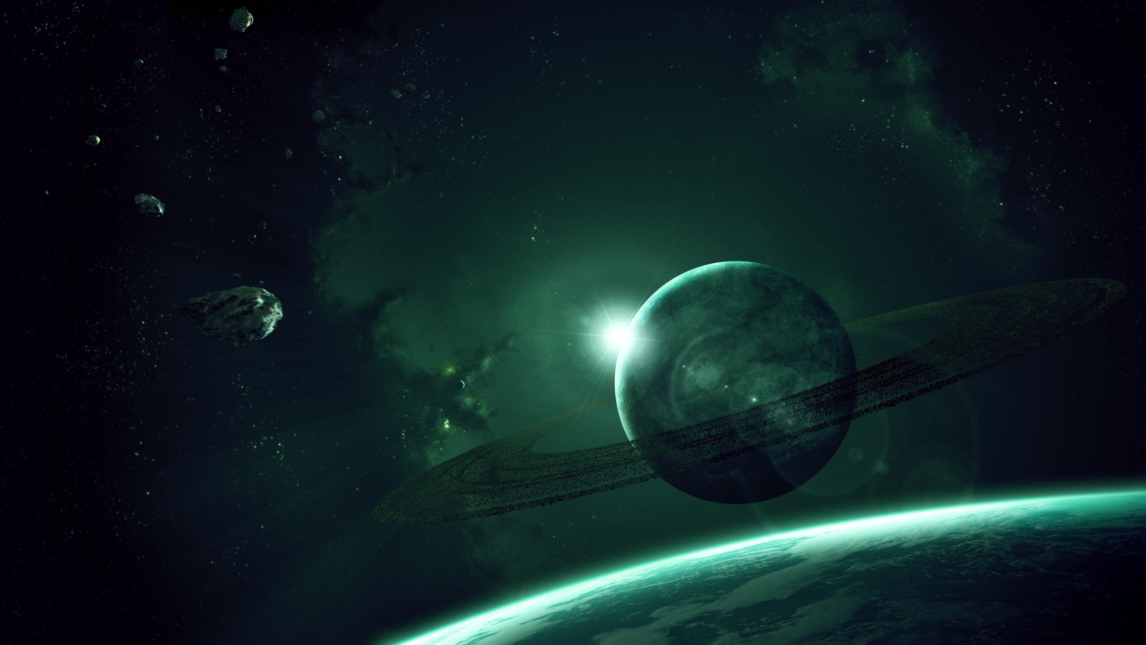 Обои Темная планета картинки на рабочий стол на тему Космос - скачать  № 1763095 бесплатно