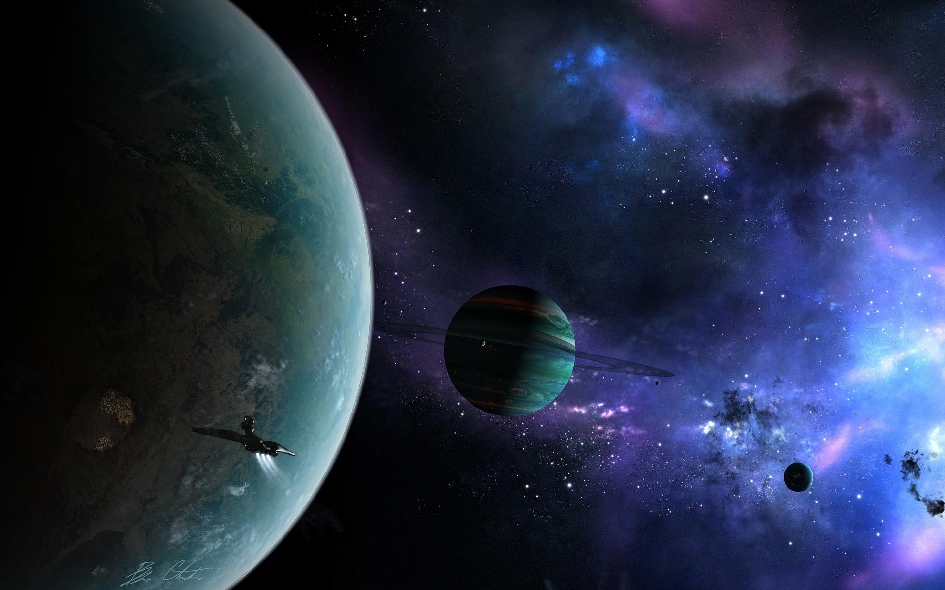 Обои космос планета корабль картинки на рабочий стол на тему Космос - скачать  № 3125480 загрузить