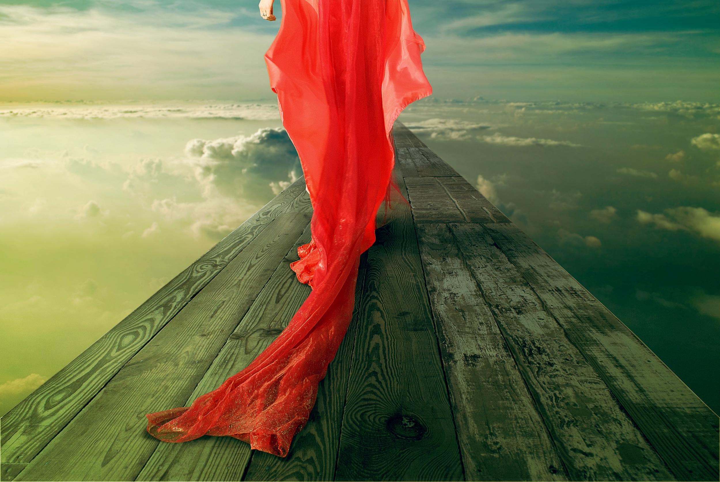 Девушка в красном на земле  № 2707531  скачать
